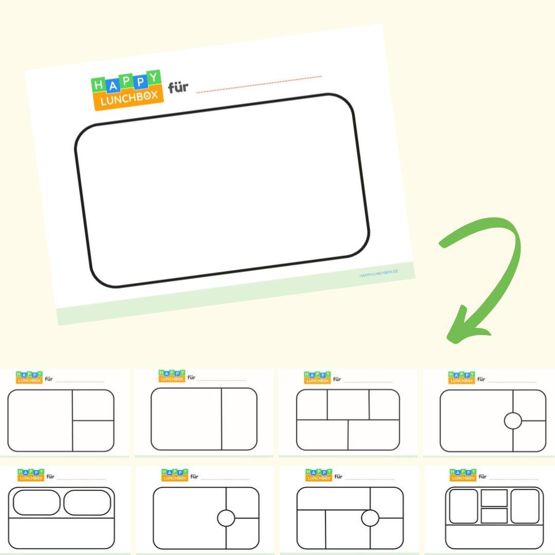 Lunchbox-Formen-Worksheets