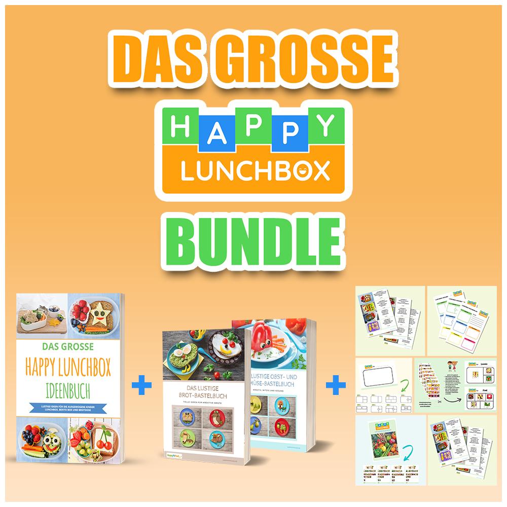Das grosse Happy Lunchbox Bundle für Kinder Lunchbox und Bento Box