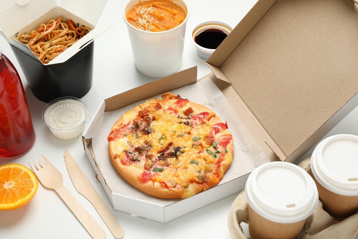 Fast Food to go ungesundes Essen Arbeit