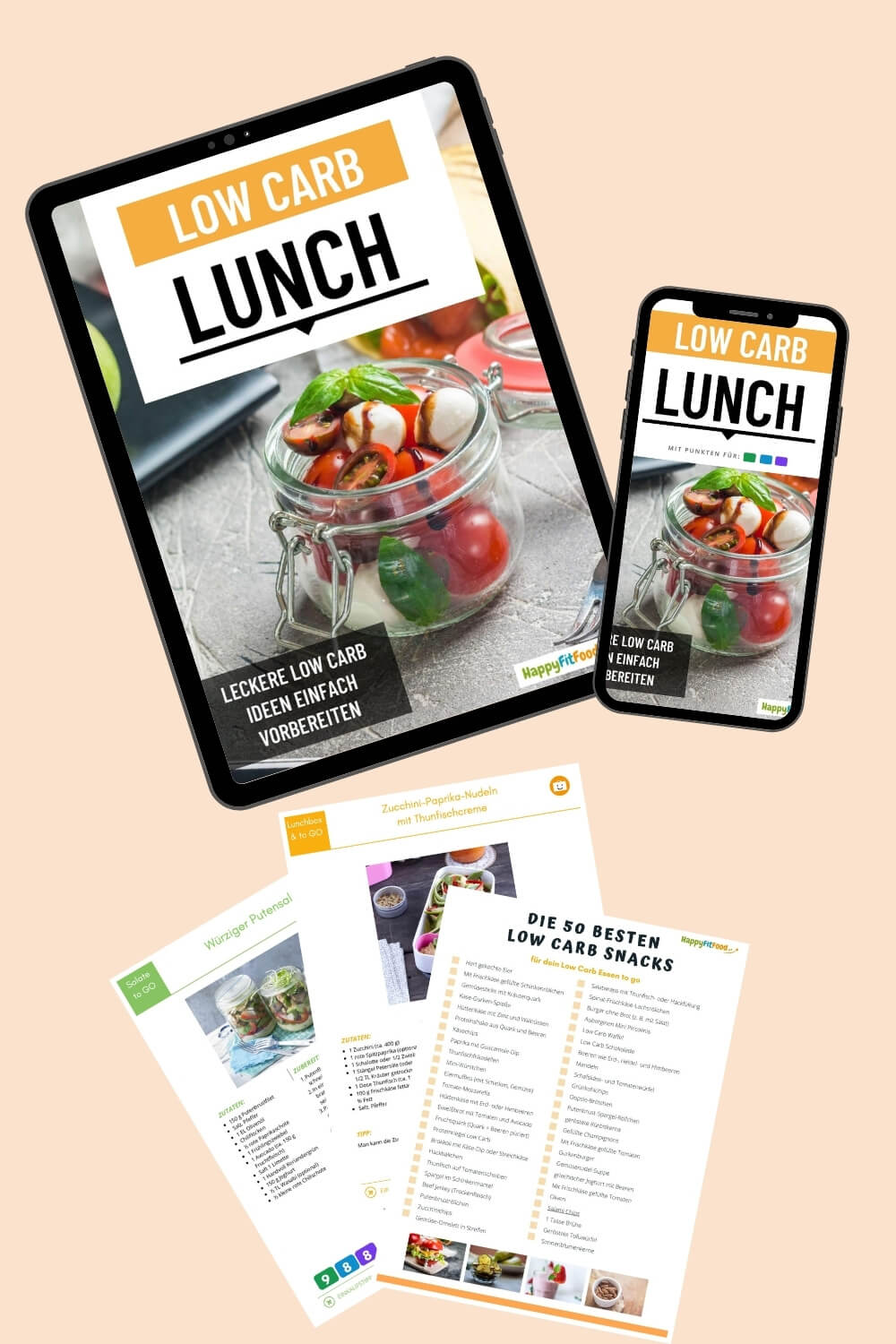 Low Carb Lunch Ebook und Snacks gratis herunterladen